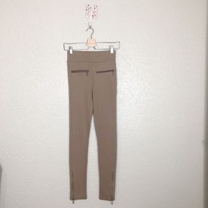 EUC Zara Basic high waisted ankle zipper jegging